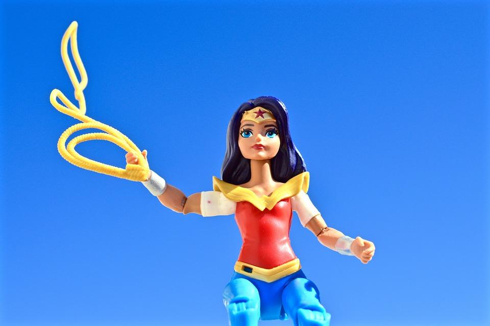 Wonder Woman, Superhero, Lasso, Female, Strong