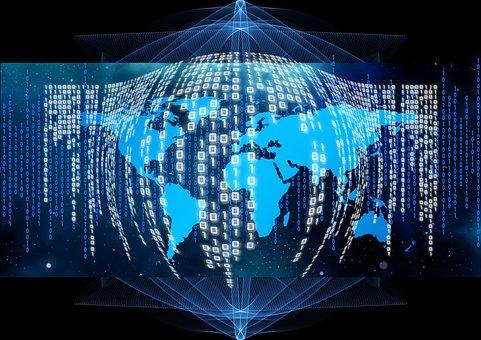 Binary, Code, Globe, Africa, Continents
