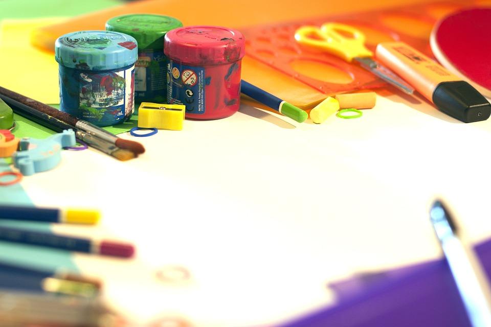 Material Escolar, Color, Plástica, Pintura, Témpera