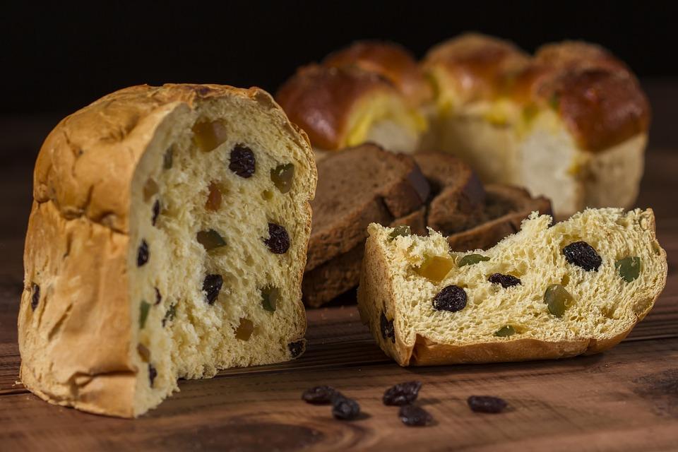 Panettone, Bread, Raisins, Food