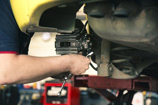 メカニック, ブレーキ, 作業, 車の整備