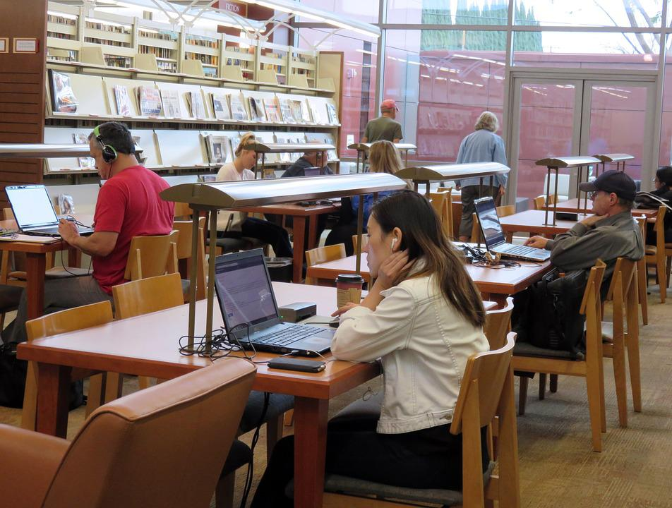 Bibliothek, Studie, Hausaufgaben, Bildung, Studium