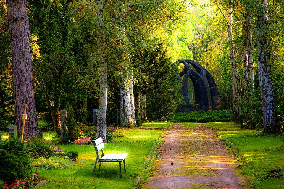 Cemetery, Forest, Grave Stones, Woodland Cemetery, Rest