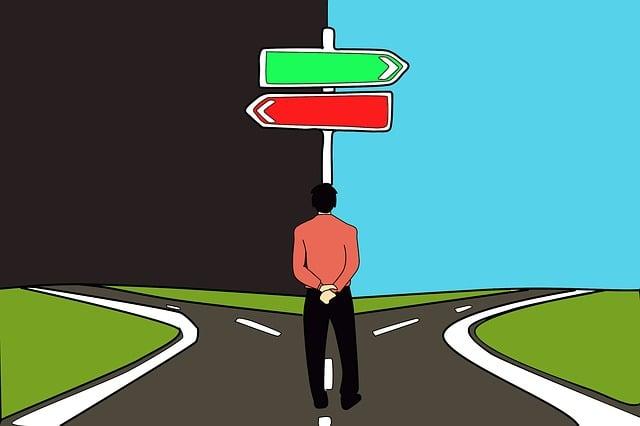 決定, 選択, パス, 道路, 善悪