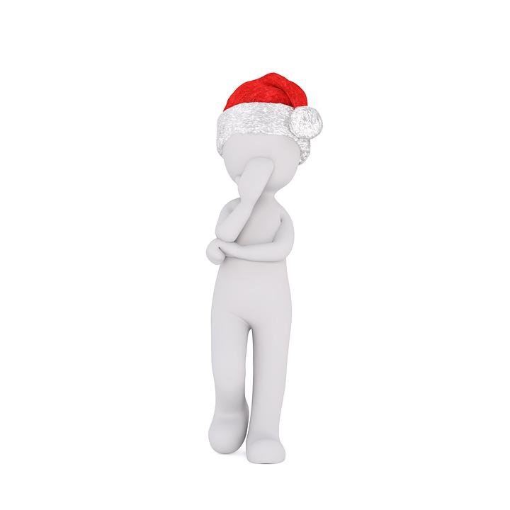 実行, フィギュア, 思う, 思考, 白色の数字, 様式化されました, 三次元モデル, クリスマス