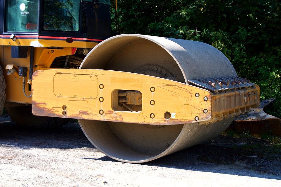 Roll, Road Roller, Grader, Asphalt Roller, Detail