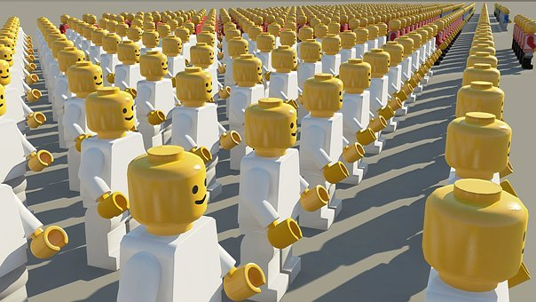 Folla Lego Personale Scelta Selettore Vota