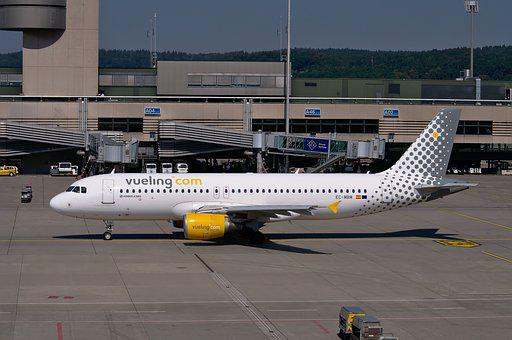 空客A320, Vueling公司, 飞机, 飞行, 传单, 天空, 客机
