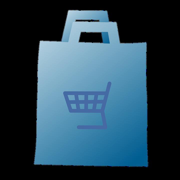 ショッピングバッグ, プラスチック, バッグ, ビニール袋, 購入, スーパー マーケット