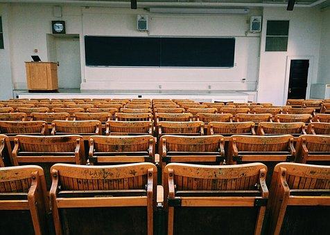 教室, レクチャー ホール, 大学, 教育, 学校