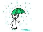 rain, umbrella, drops