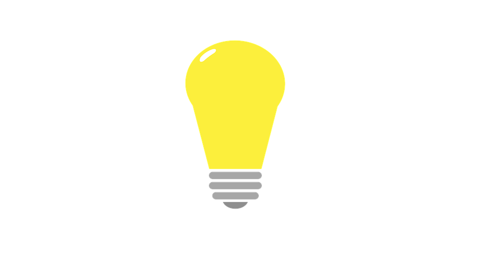 Bulb Flat Design Drawing Idea Lamp Light Lighting