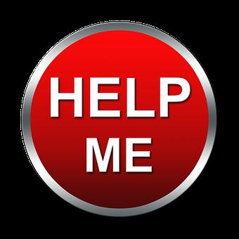 Help Button, Help, Help Me, Button, Icon