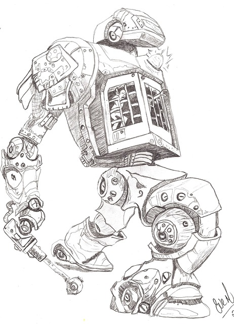 how to draw a future robot