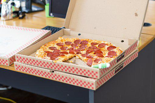 Pizza Food Takeout Box Pepperoni Office Sn