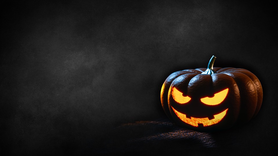 Halloween, Pumpkin, Dark, Background, Creepy, Fash