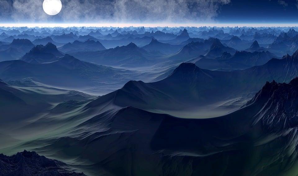 惑星, 科学フィクション, ファンタジーの世界, 夢, ボイジャー, 仮想, 風景, ユートピア, 要約