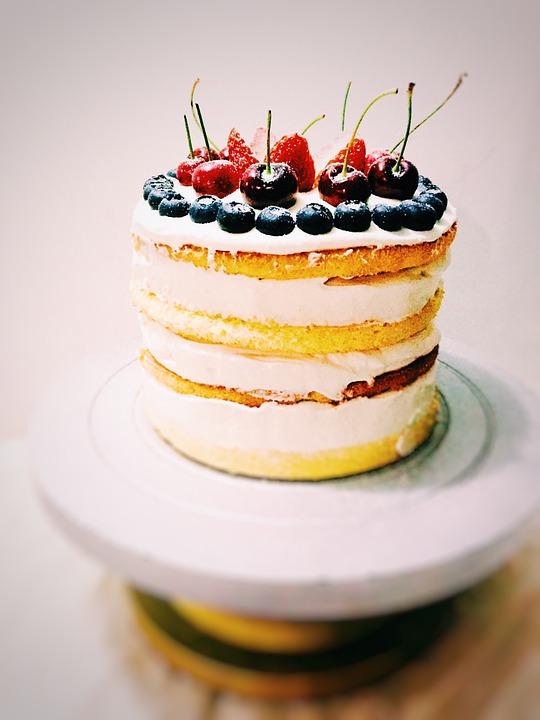 Kakku, Birthday Cake, Jälkiruoka, Leivonta, Ruoka