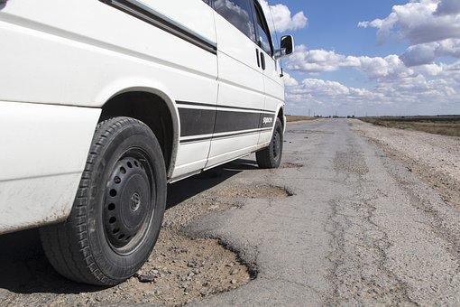 Pothole Road Kazakhstan Hole Asphalt Repai
