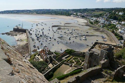 Jersey, Castle, Orgueil, Port