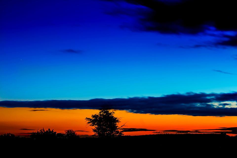 sunset blue hour sky 183 free photo on pixabay