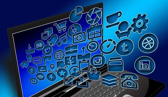 ノート パソコン, ノートブック, 構造, インターネット, ネットワーク