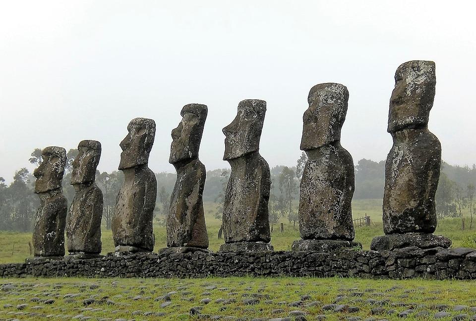 Wyspa Wielkanocna Wiersz Kamień Darmowe Zdjęcie Na Pixabay