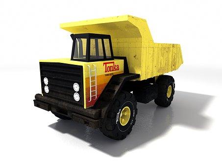 Truck, Yellow, Transport, Truck Truck