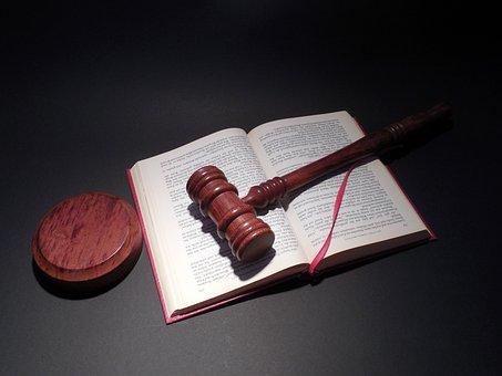 ハンマー, 裁判所, 正義, 本, 裁判官, 法律, 句, 段落, 判例法