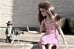 barbie, camera, paparazzi