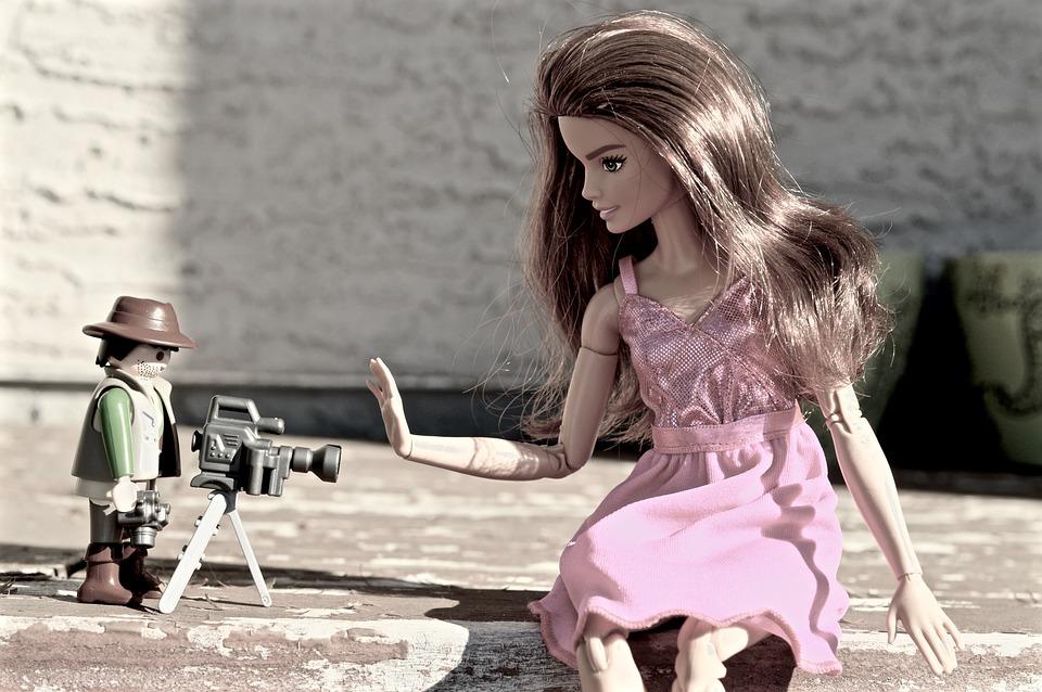 バービー, カメラ, パパラッチ, カメラマン, 写真, モデル, 人形, おもちゃ, ピンク, レジスト