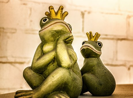 Frog King Figure Crown Frog Prince Fa