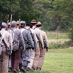 american civil war, re-enactment, history