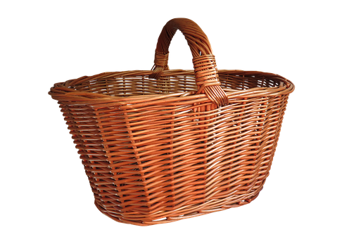 Basket Shopping Basket Isolated Shopping W