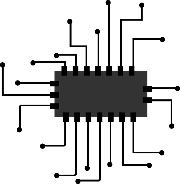 Line Drawing In Computer Graphics : Free vector graphic chip icon micro processor
