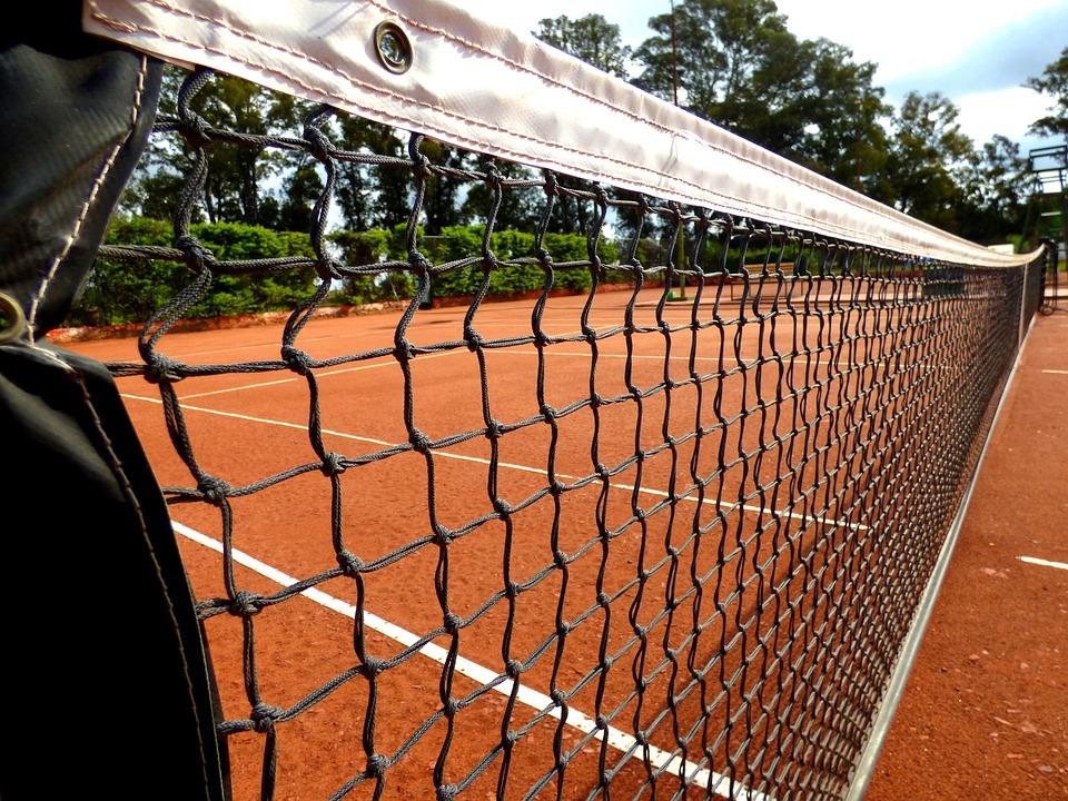Netzwerk, Tennis, Clay, Umreifen
