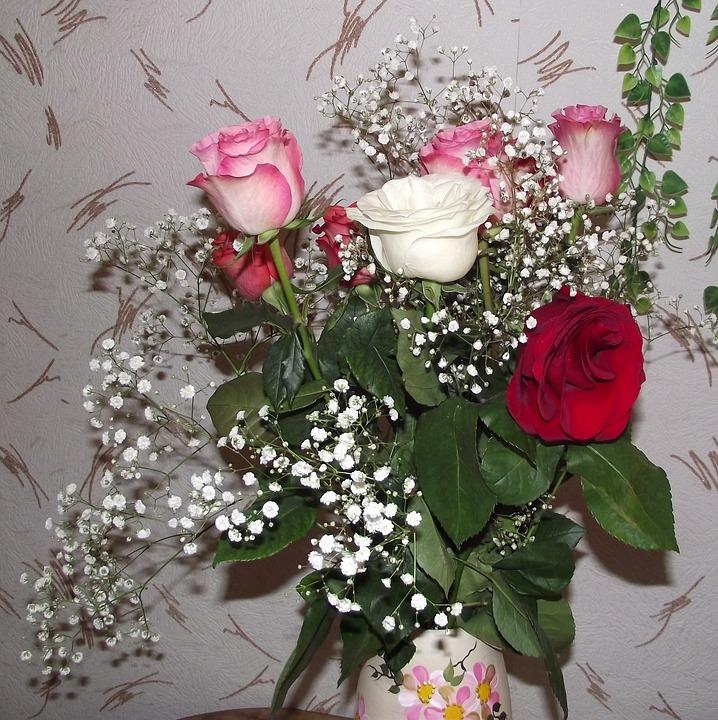 Ramo De Flores Rosas Foto Gratis En Pixabay