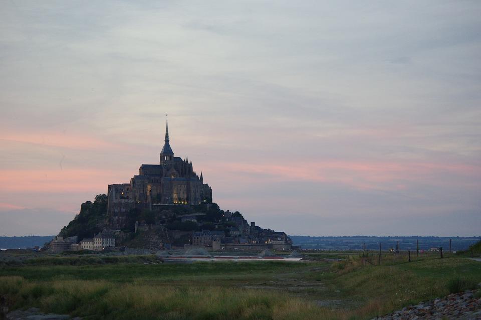 Saint-Michel, Normandië, Abdij, Mont Saint Michel