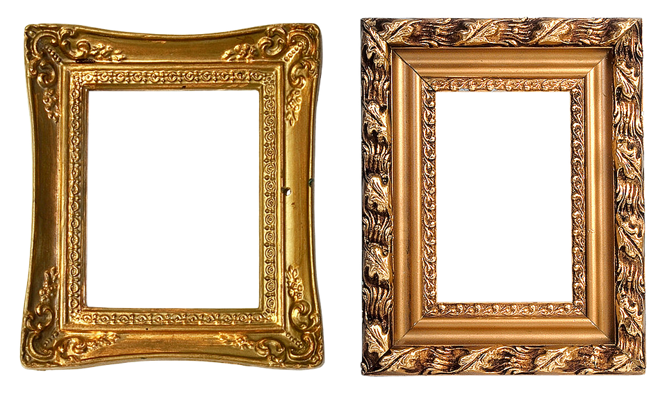 frame carved gold baguette filigreed