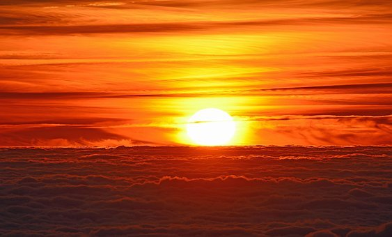 Puesta Del Sol, Mar De Nubes