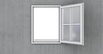windows, open, wall