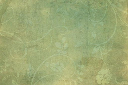Vintage Green Flourish Texture