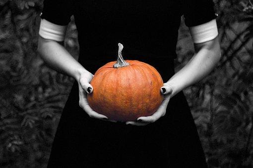 Pumpkin, Lady, Halloween