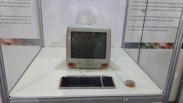 コンピューター, 歴史, サンプル, Imac, 古い, レトロ, 博物館
