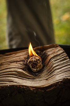 Flame, Catching Fire, Wood Cutting, Chip