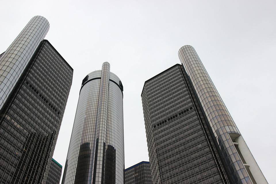 Renaissance Center, General Motors, Detroit, Michigan