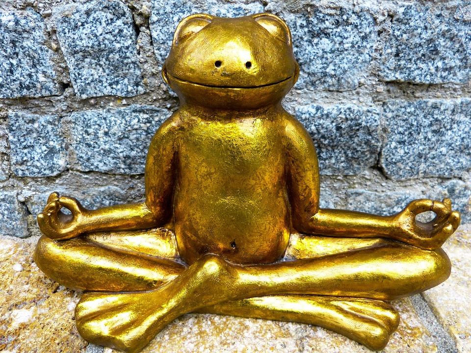 Avkoppling, Meditation, Groda, Gyllene, Yoga, Må Bra