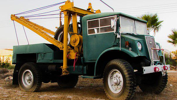 Truck Tow Truck Old Vehicle Car Antique Vi