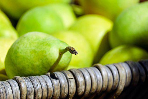 梨, フルーツ, 果物, グリーン イエロー, 収穫, 夏の終わり