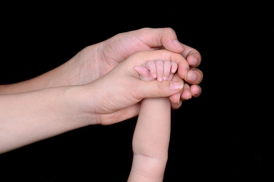 Tata, Mama, Miłość, Ręka, Rodzina, Niemowlę